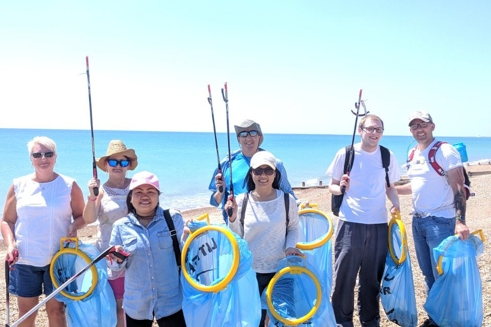ETI Staff Participate in Worthing Big Beach Clean